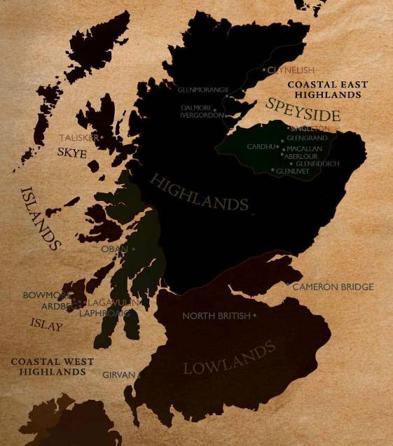 уиски картата на Шотландия