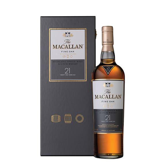 the macallan 21 year old fine oak